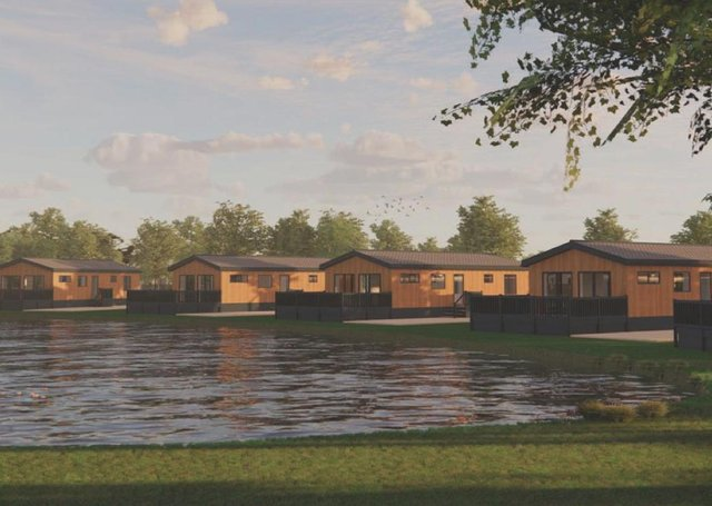Plans for the new lodges.