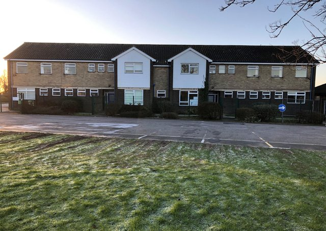 The existing buildings at St Bernard's School in Louth.