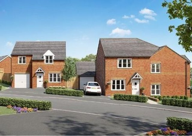 An artist's impression of how the homes in the new Louth development could look