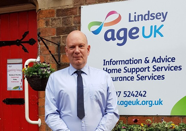 In charge: Age UK Lindsey CEO Andy Storer who has praised staff for their vital work.