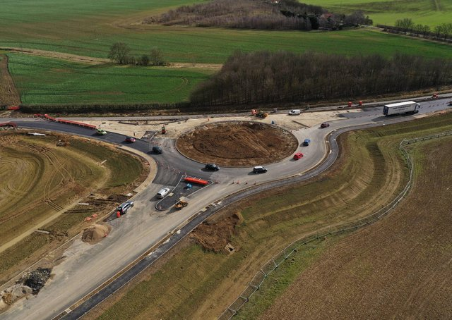 It is planned the roundabout will open next month EMN-210315-073140001
