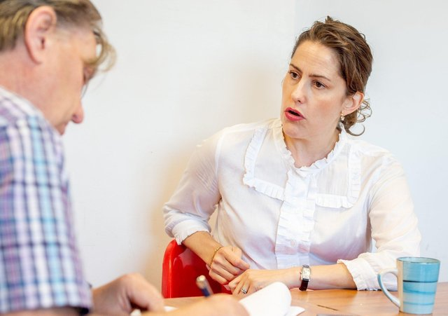 Content Editor John Fieldhouse, pictured interviewing Victoria Atkins MP a couple of years ago.