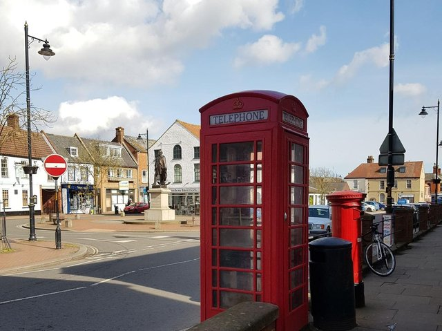 One of the telephone boxes up for adoption in Spilsby.