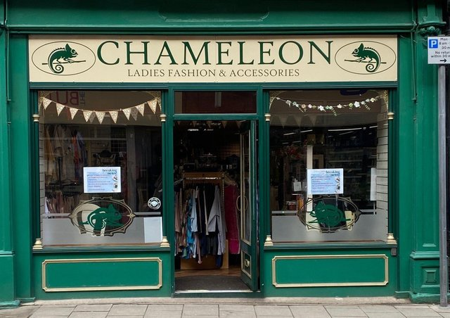The front of the 'Chameleon' women's clothing shop in Louth last week