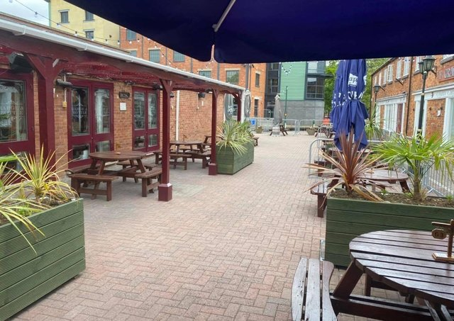 The Barge and Bottle, Sleaford. Converted from a former furniture showroom, it is now a comfortable watering hole. This independently owned hostelry has a large split-level room with balustrades. EMN-210317-171939001