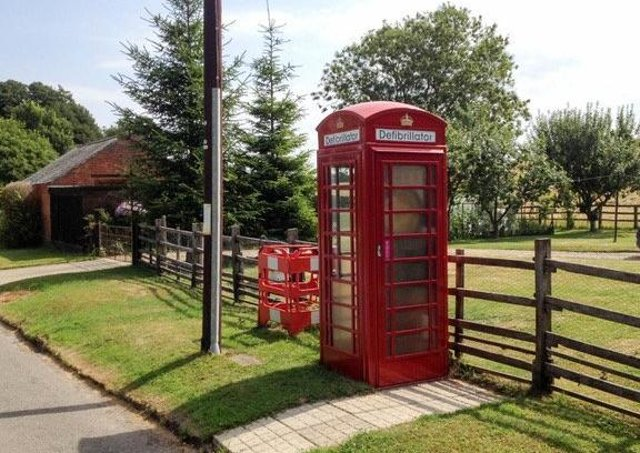 This phone box, in Welton le Wold, was adopted by the local community in September 2018 and is now home to a public defibrillator.
