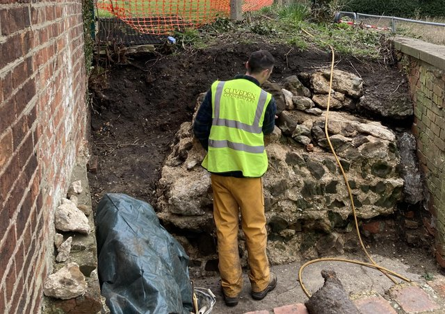 Cliveden Conservation have started work clearing vegetation from the Roman Wall