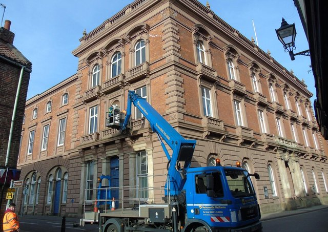 The work was carried out at Louth Town Hall on Sunday (March 21).