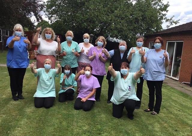 The team at Sleaford's Ashdene Care Home. EMN-210324-171420001