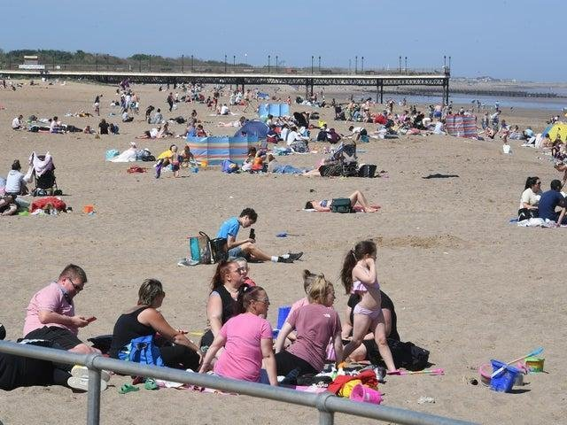 A heatwave is promised for Skegness this week but we may not see scenes like this from last year as it is not expected to stay for the Easter Bank Holiday.