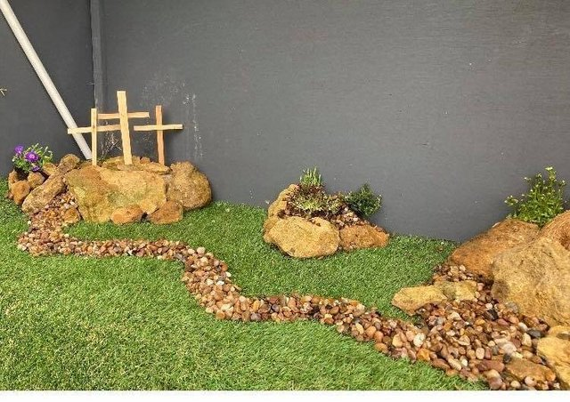 The Easter Garden at St Botolph's Church was created ready for Palm Sunday and will form the detination of the Easter Trail. EMN-210330-102502001