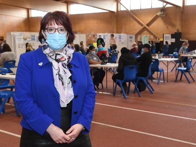 Rebecca Neno at the PRSA vaccination hub