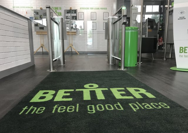 Better Gym. Now closed as a Covid test site for local workers and families. EMN-210331-111551001