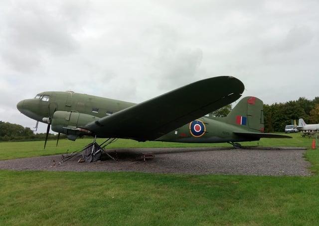 The Dakota at Metheringham Airfield Visitor Centre. EMN-210604-120104001