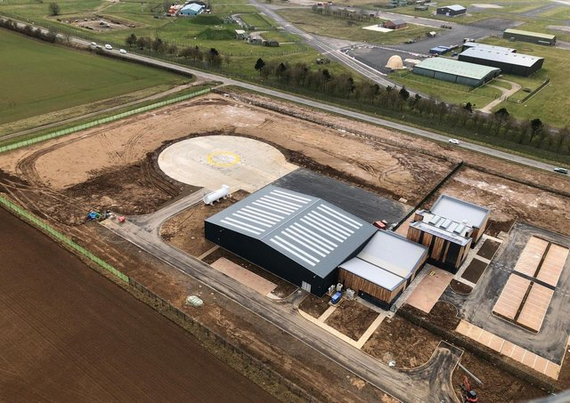 Air ambulance crew and charity staff are looking forward to moving into their new home alongside the A15 opposite RAF Waddington. EMN-210804-111105001