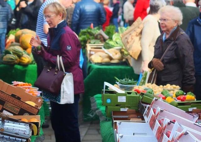 Market stalls (stock image)