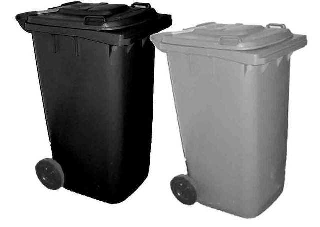 Refuse and recycling bins (stock image).