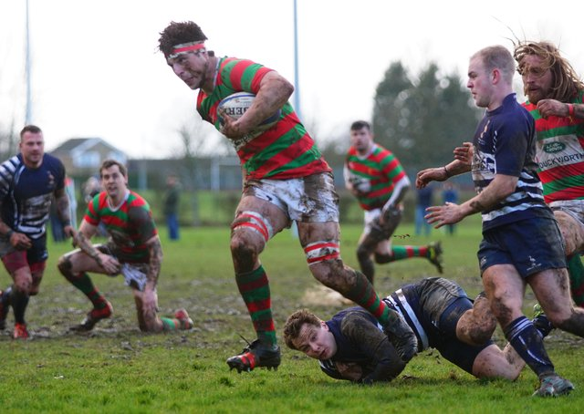 George Grant's two scores took the Red and Greens to an early bonus point. Picture: Jon Staves EMN-200903-093220002