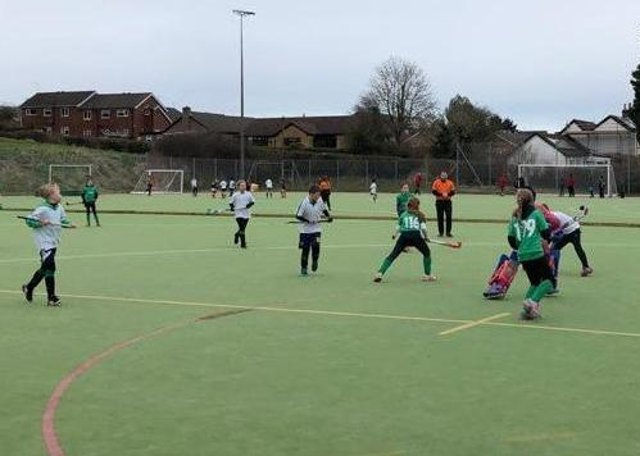 Louth HC Under 11s in action at their home tournament at London Road EMN-200316-084851002