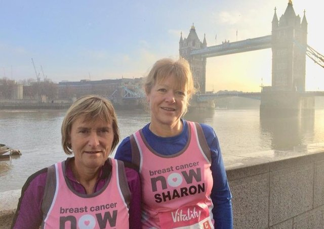 Elaine and Sharon ran well in a field of 20,000 runners at the London Big Half EMN-200316-091554002