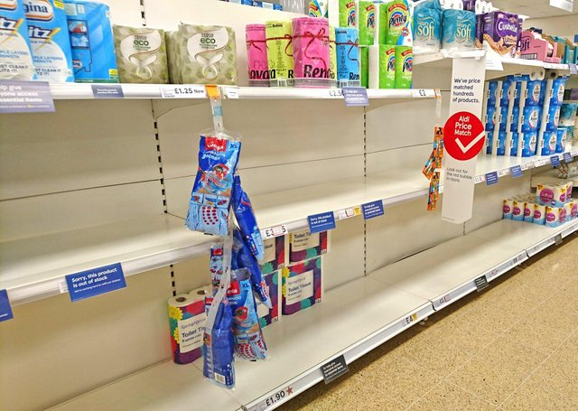 A supermarket in East Lindsey struggles to keep up with the demand for essential supplies.