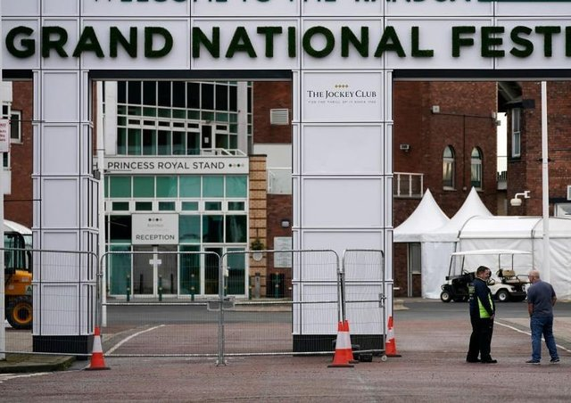 The Grand National at Aintree, one of the sporting giants felled by the coronavirus pandemic. Photo: Christopher Furlong/Getty Images EMN-200319-105551002