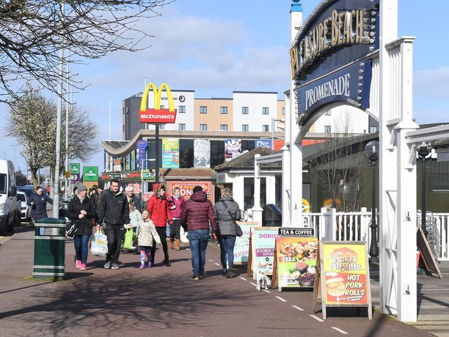 This picture of the seafront in Skegness was taken on Saturday, March 21 2020.