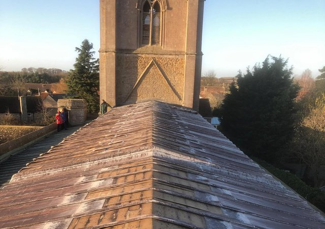 Threekingham church had its lead stolen from the roof in December. EMN-200325-152450001