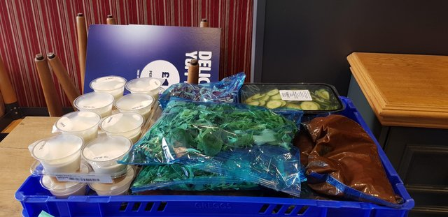 The donation from Greggs to a local homeless charity.