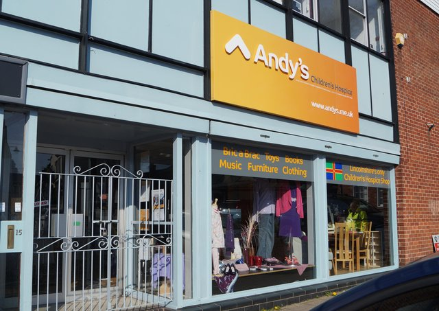 Market Rasen's Andy's Children's Hospice is one of the many charities who have had to close their shops