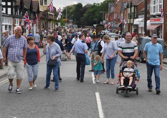 Crowds at last year's Woodhall Spa 1940s Festival. EMN-200327-111154001