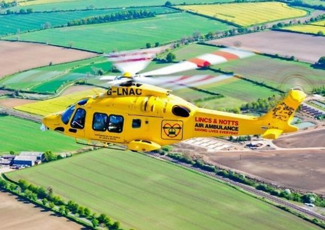 The Lincs and Notts Air Ambulance attended the scene.