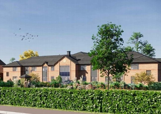An artist's impression of the new care home.