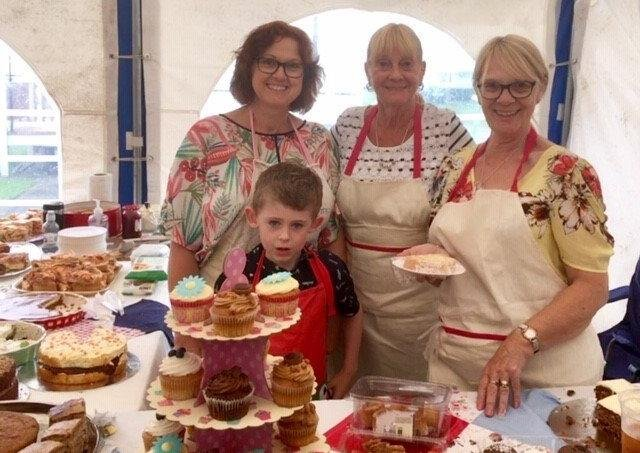 The cake stall at an Anderby Creek Community Charity event last year.