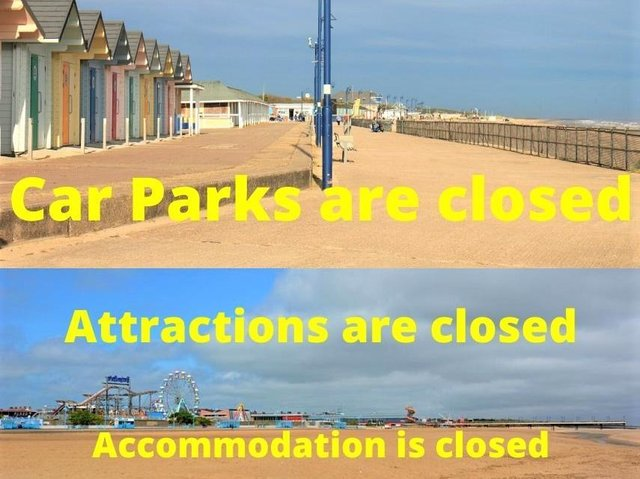 Car parks are closed.