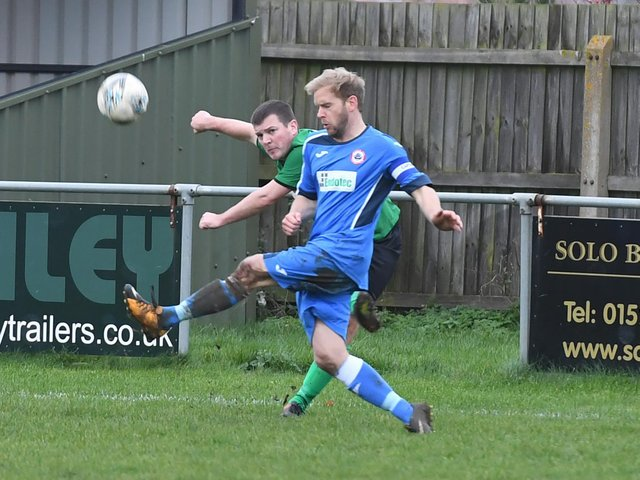 Match action from Sleaford Town Rangers and Immingham Town last season.