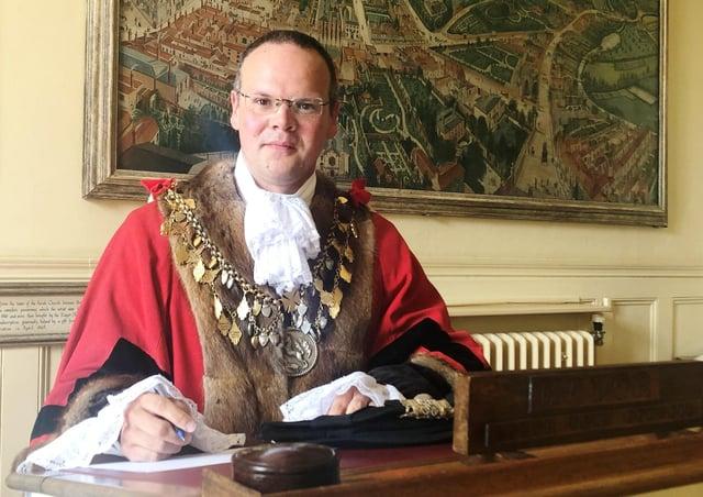 Mayor of Louth, Darren Hobson.