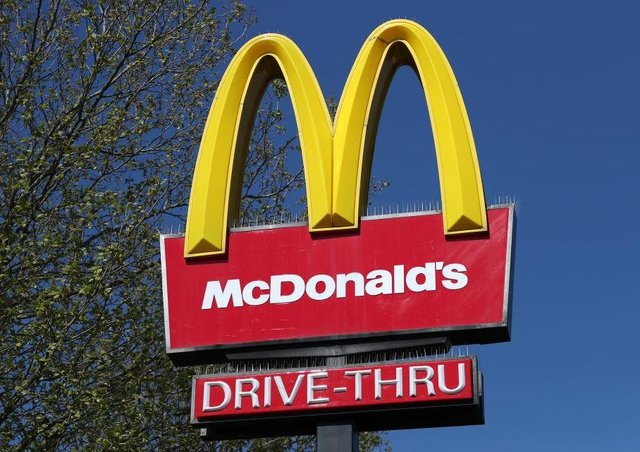 A McDonald's drive-thru sign. Photo: Getty Images