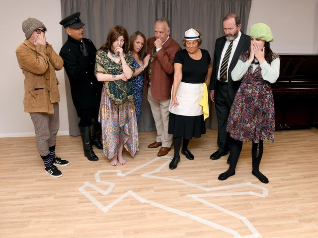 The cast of Death by Design.