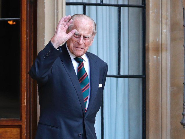 A picture taken in July 2020 of the Duke of Edinburgh at The Rifles ceremony (Photo by Adrian Dennis - WPA Pool/Getty Images)