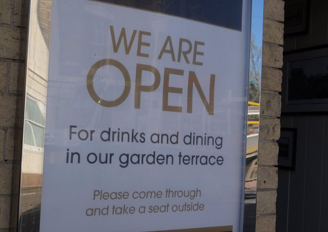 Pubs, bars and restaurants are open for business - but only serving outside  EMN-211204-133402001