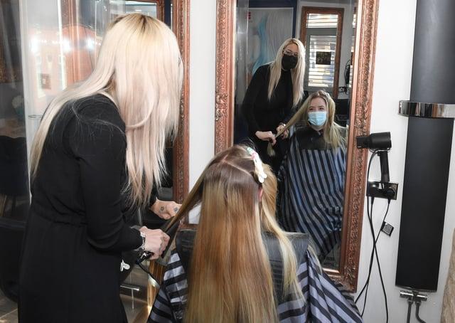 Little Hair Boutique. L-R Becky Arumugam and Daniella Brown EMN-211204-175611001
