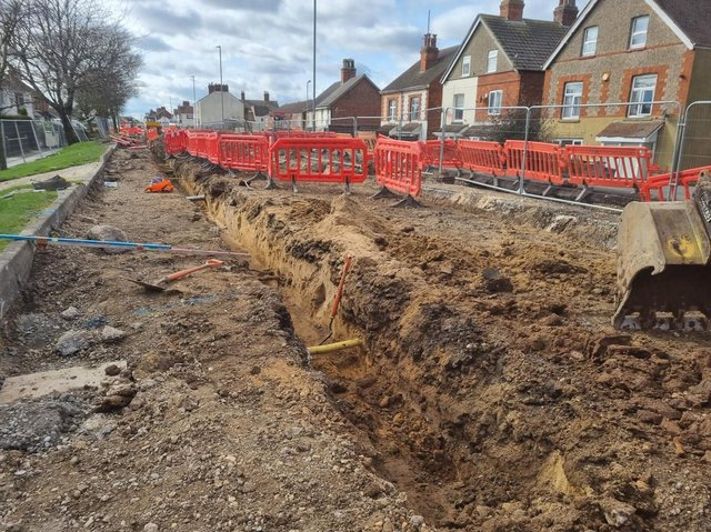 Cadent are diverting the gas main along Roman Bank between Muirfield Drive and Brancaster Drive in Skegness.