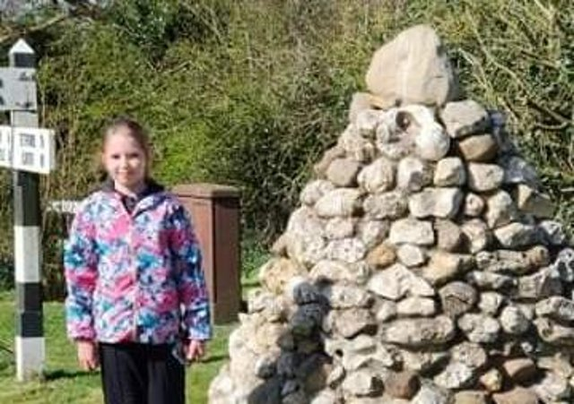Roxii Emmerson completed her fundraising walk on March 27.