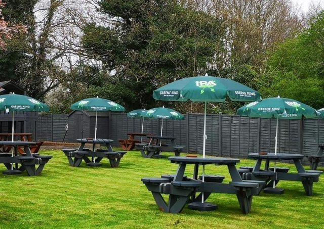 The refurbished outdoor area at The Jolly Scotchman in Sleaford. EMN-210417-170003001