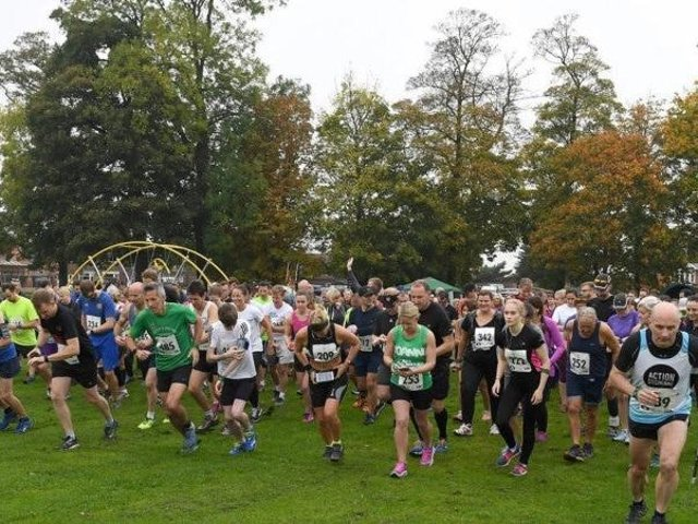 Spires and Steeples Challenge, runners and walkers at Metheringham Playing Field for the start of the 13-mile challenge. EMN-180503-090451002