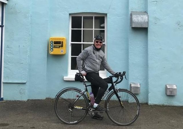 Andy Bagworth outside the Alford Masonic lodge