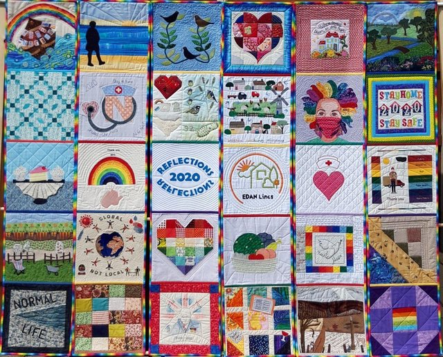 The rainbow quilt.