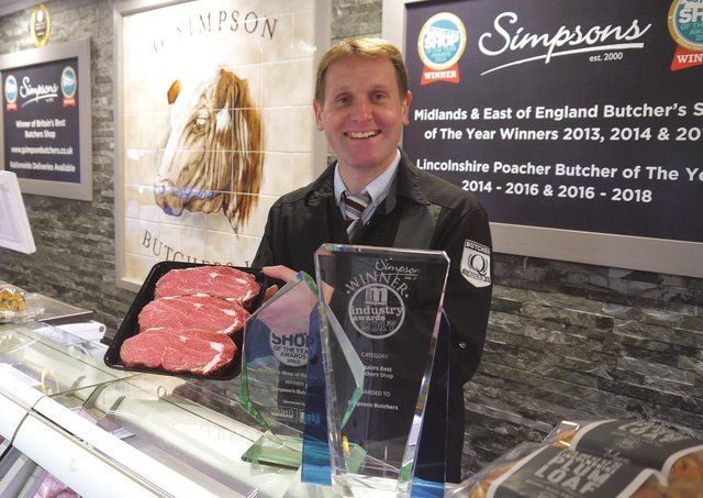 Gary Simpson, founder of Simpson's Butchers, which originated in Heckington. EMN-210405-144426001