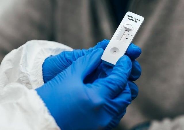 Coronavirus: Lateral flow test (stock image)